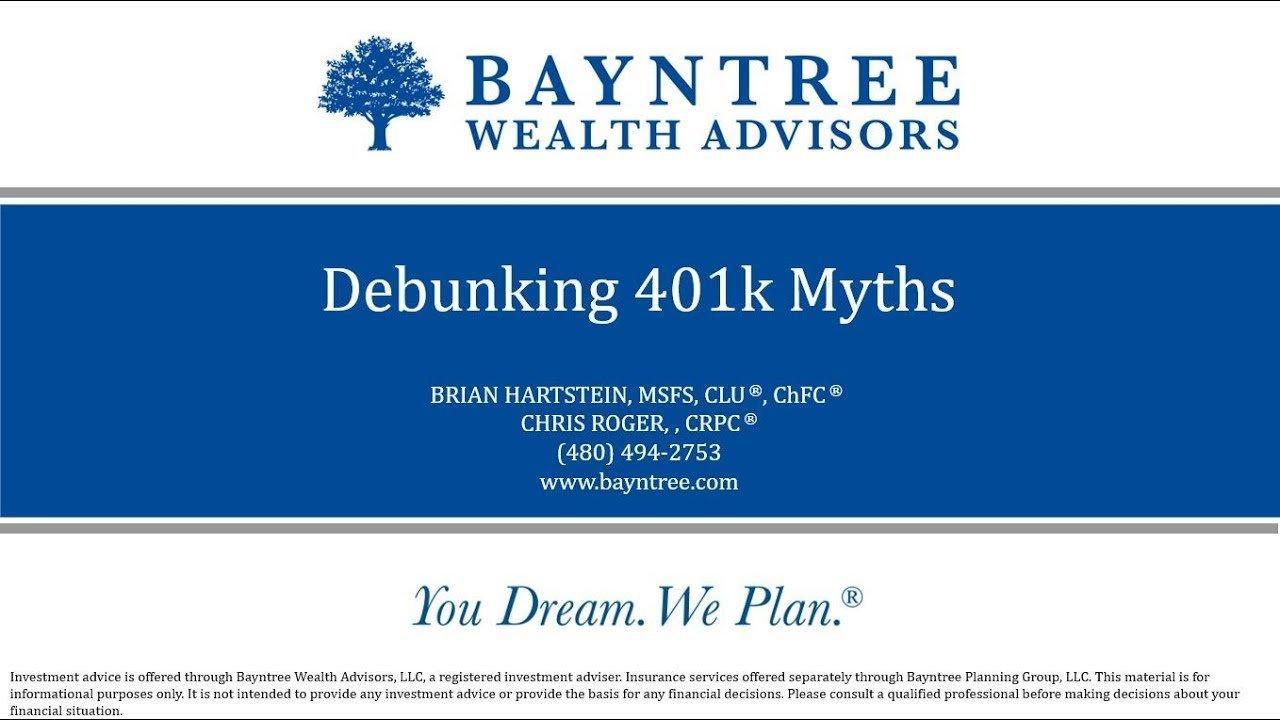 Debunking 401k Myths