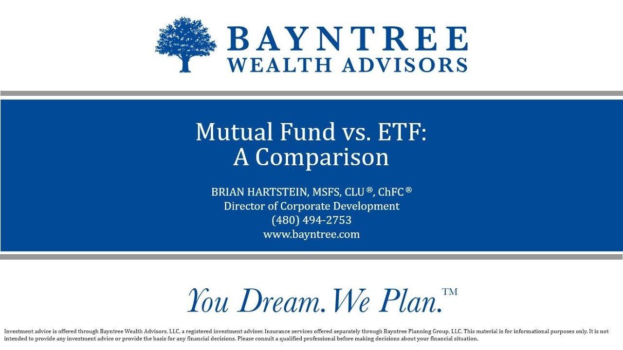 Mutual Fund vs ETF A Comparison