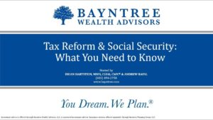 Tax Reform and Social Security What You Need to Know
