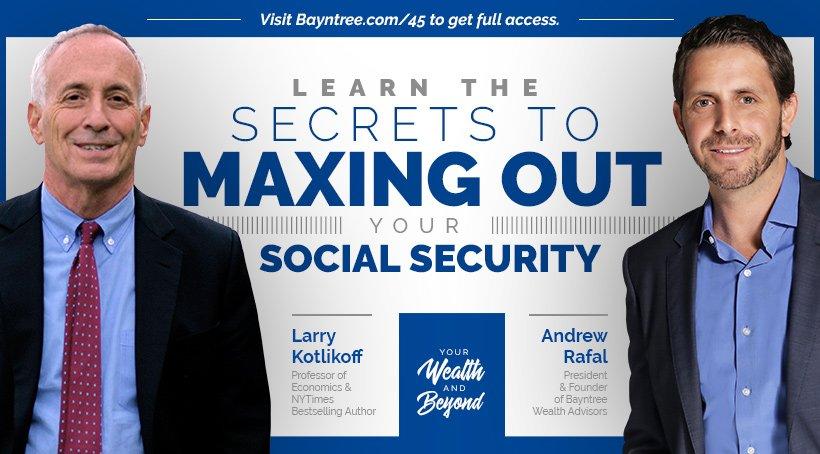 Larry Kotlikoff Social Security planning